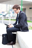 Businessman using a tablet Stock Image