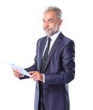Businessman using a tablet computer Stock Photos