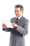 Businessman using a tablet computer Royalty Free Stock Photo