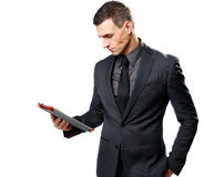 Businessman using tablet computer Royalty Free Stock Image