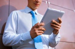 Businessman Using Tablet Computer Stock Photography