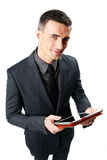 Businessman using tablet computer Stock Image