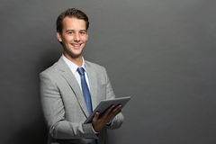 Businessman using tablet computer Royalty Free Stock Photo