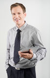 Businessman using tablet Royalty Free Stock Photography
