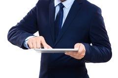 Businessman using tablet Royalty Free Stock Photos