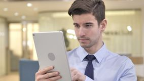 Businessman Using Tablet PC stock video footage