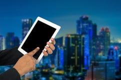 Businessman using tablet pc. Stock Photo