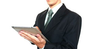 Businessman Using a Tablet For Work stock footage