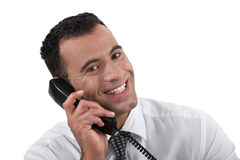 Businessman using the telephone Royalty Free Stock Image