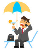 Businessman on vacations Stock Photography
