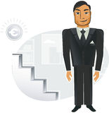 Businessman in vector Stock Photography