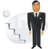 Businessman in vector stock illustration