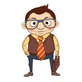 Businessman. A Vector character who can become your brand character Royalty Free Stock Photography