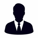 Businessman. Vector icon isolated on white background royalty free illustration