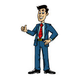 Businessman. A vector illustration of a cartoon businessman Royalty Free Stock Images