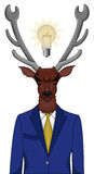 Businessman. Vector illustration of businessman deer with idea Stock Photos