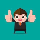Businessman very good cartoon Royalty Free Stock Image