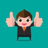 Businessman very good cartoon Royalty Free Stock Photography