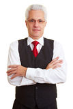Businessman with vest Royalty Free Stock Image