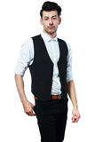Businessman in vest Royalty Free Stock Photo