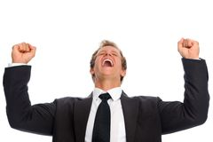 Businessman victory Stock Images