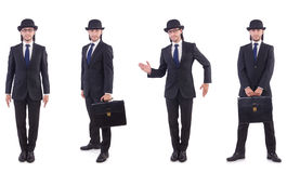 The businessman in vintage concept isolated on Royalty Free Stock Photography