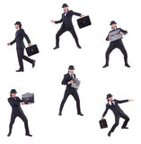 The businessman in vintage concept Stock Photography