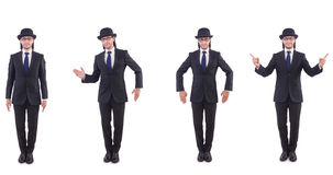 The businessman in vintage concept  Stock Image