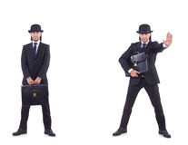 The businessman in vintage concept Stock Photos