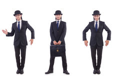 The businessman in vintage concept Stock Photo