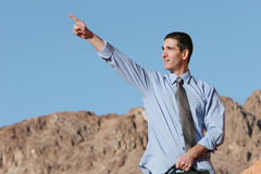 Businessman with a vision Royalty Free Stock Images