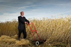 Businessman with a vision Stock Images