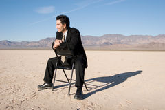 Businessman with a vision Stock Photography