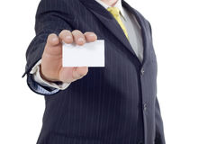 Businessman with visiting card Royalty Free Stock Photo