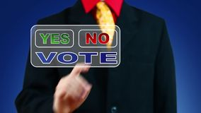 Businessman voting No stock video