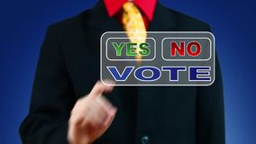 Businessman voting Yes stock footage