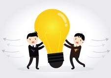 Businessman VS Businessman Plagiarism Royalty Free Stock Photos