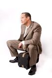 Businessman waiting Stock Image