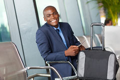 Businessman waiting airport Stock Image