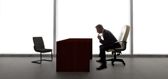 Businessman Waiting For Client or Meeting Stock Photography