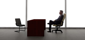 Businessman Waiting For Client or Meeting Royalty Free Stock Images