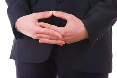 Business man waiting with folded hands. Businessman waiting with folded hands Stock Images