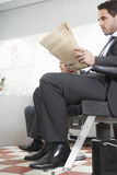 Businessman Waiting For Haircut Royalty Free Stock Images