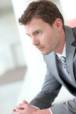 Businessman waiting in the hall Royalty Free Stock Photography