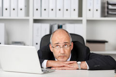 Businessman waiting for ideas Stock Photo