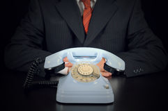 Businessman is waiting for Important call Royalty Free Stock Photo