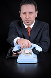 Businessman is waiting for Important call Stock Images
