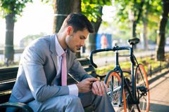 Businessman waiting for somebody Stock Image