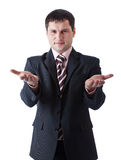 A businessman is waiting for something Royalty Free Stock Photos