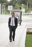 Businessman walking Royalty Free Stock Photo